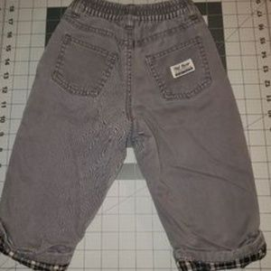 Old Navy gray lined pants ⭐Sz 12-18Mths
